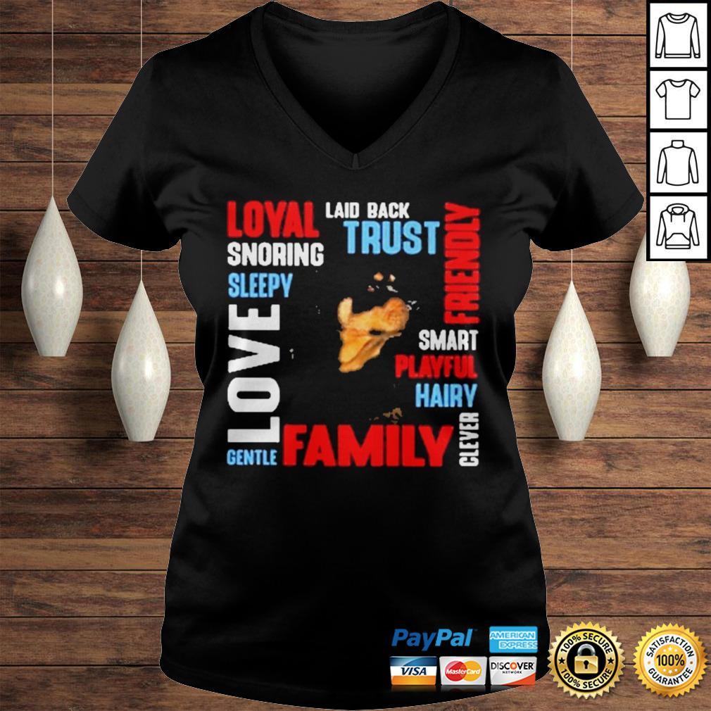 Rottweiler Deion Laid Back Trust Shirt Ladies V-Neck