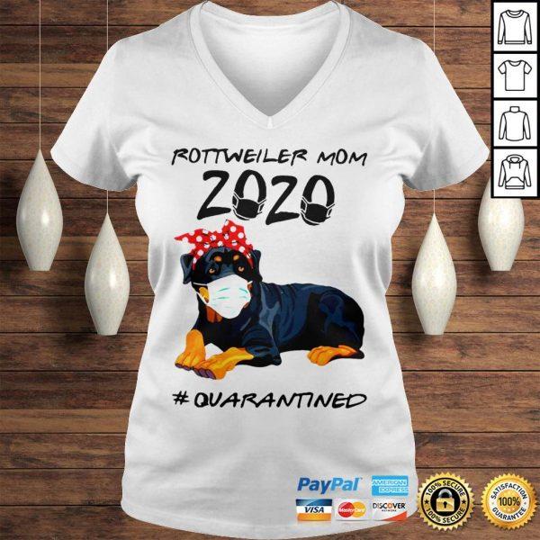 Rottweiler mom 2020 quarantined shirt Ladies V-Neck