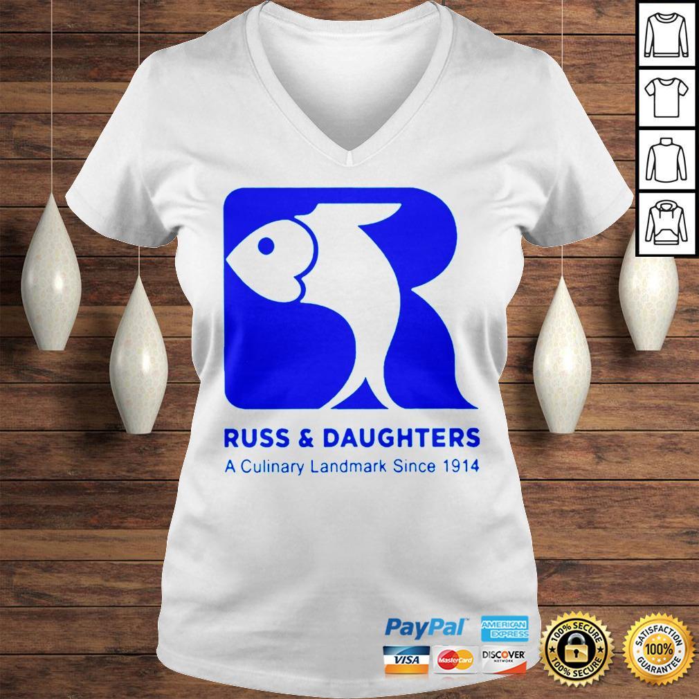 Russ Daughters A Culinary Landmark Since 1914 tom holland shirt Ladies V-Neck