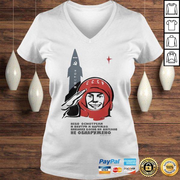 Soviet space gods mens shirt Ladies V-Neck
