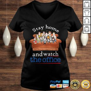 Stay home and watch the office on the sofa shirt Ladies V-Neck