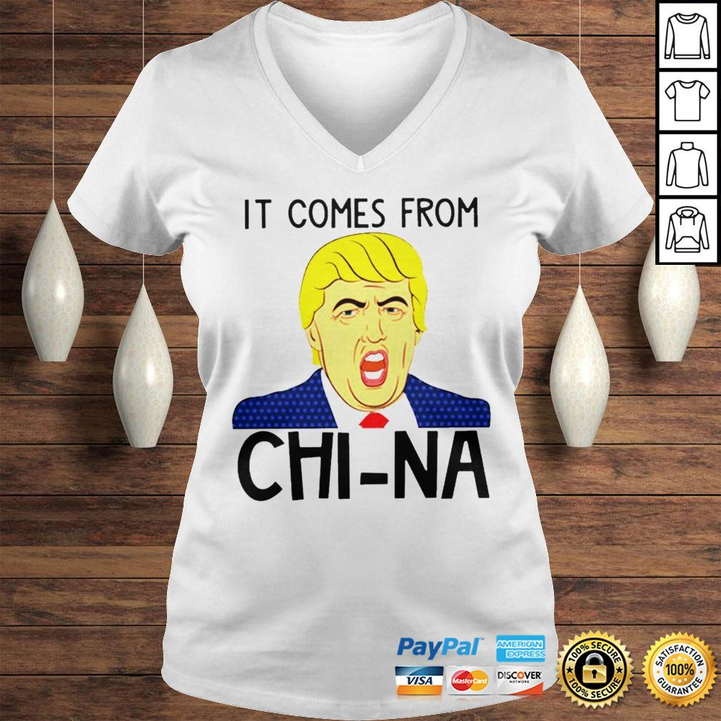 Trump It Comes From China Shirt Ladies V-Neck