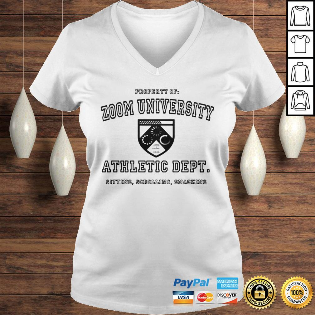 Zoom University Athletic Department Shirt Ladies V-Neck