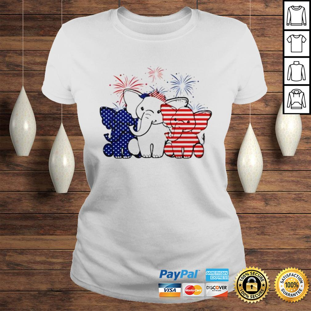 Elephant 4th of July Independence shirt Classic Ladies Tee