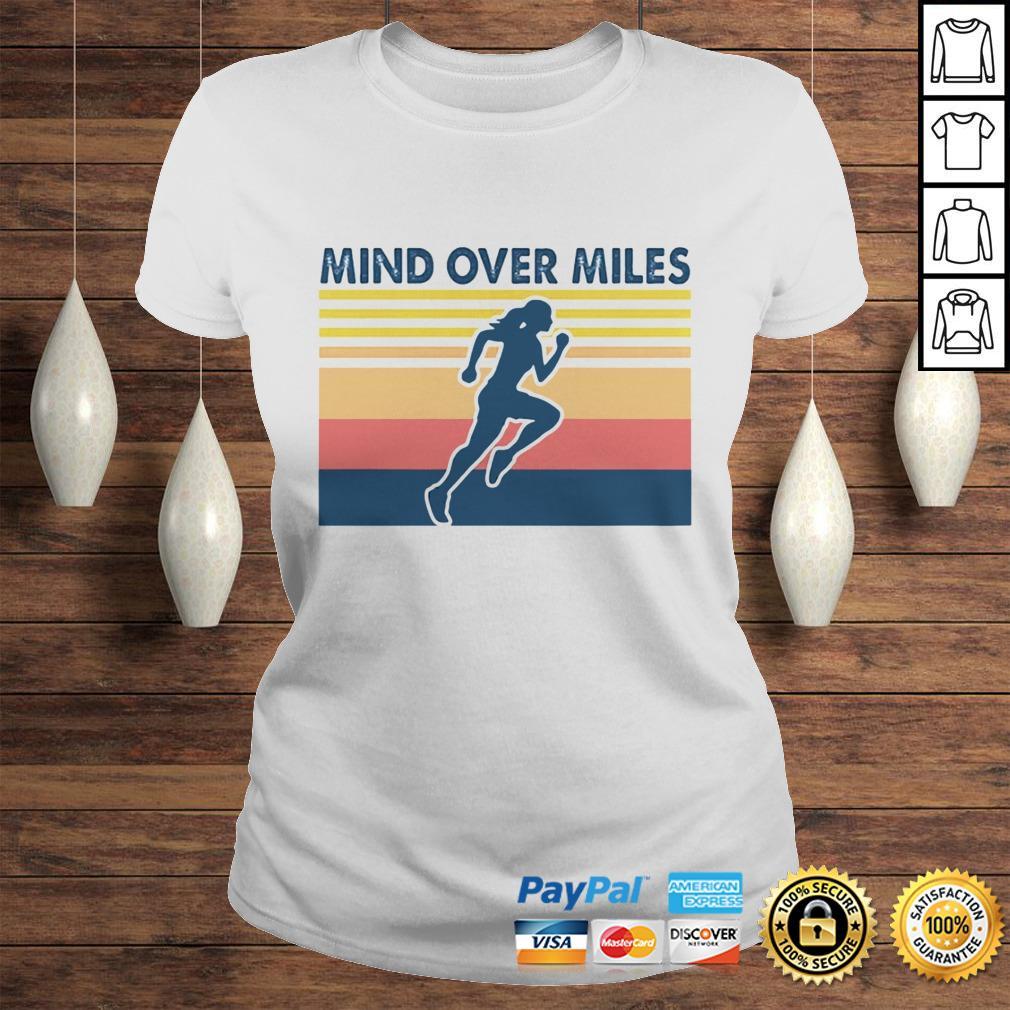 Running mind over miles vintage shirt Classic Ladies Tee