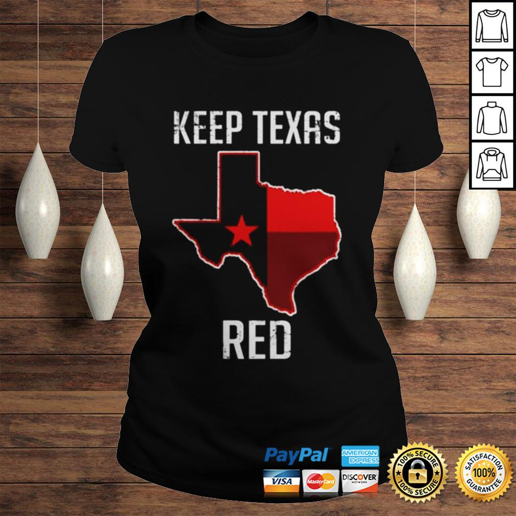 Texas Red State Flag shirt Classic Ladies Tee
