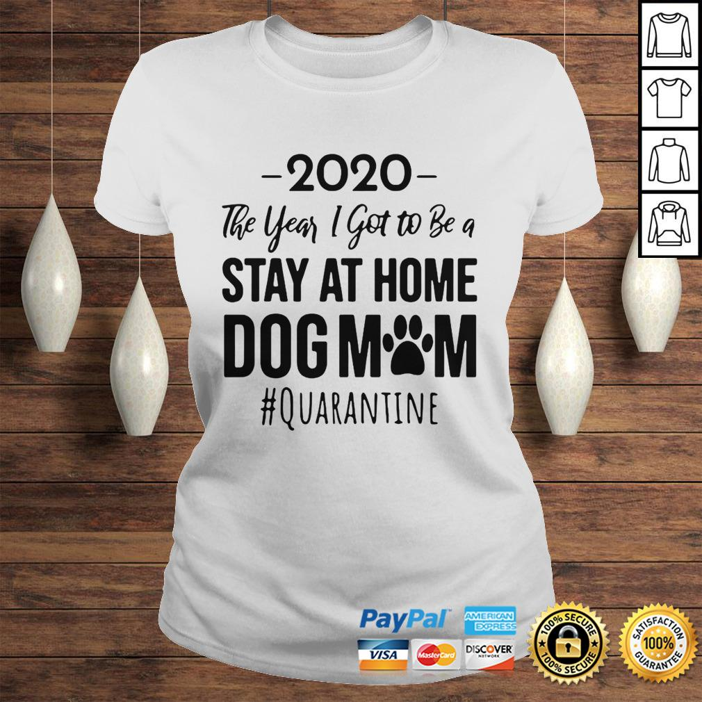 Vintage 2020 The Year I Got To Be A Stay At Home Dog Mom Quarantine Hoodie Classic Ladies Tee