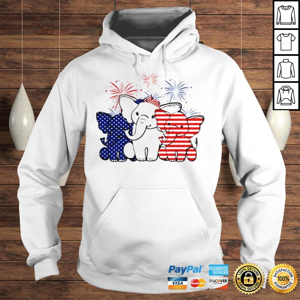 Elephant 4th of July Independence shirt Hoodie