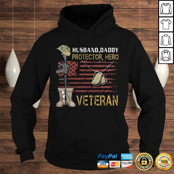 Husband Daddy Protector Hero Veteran TShirt Hoodie