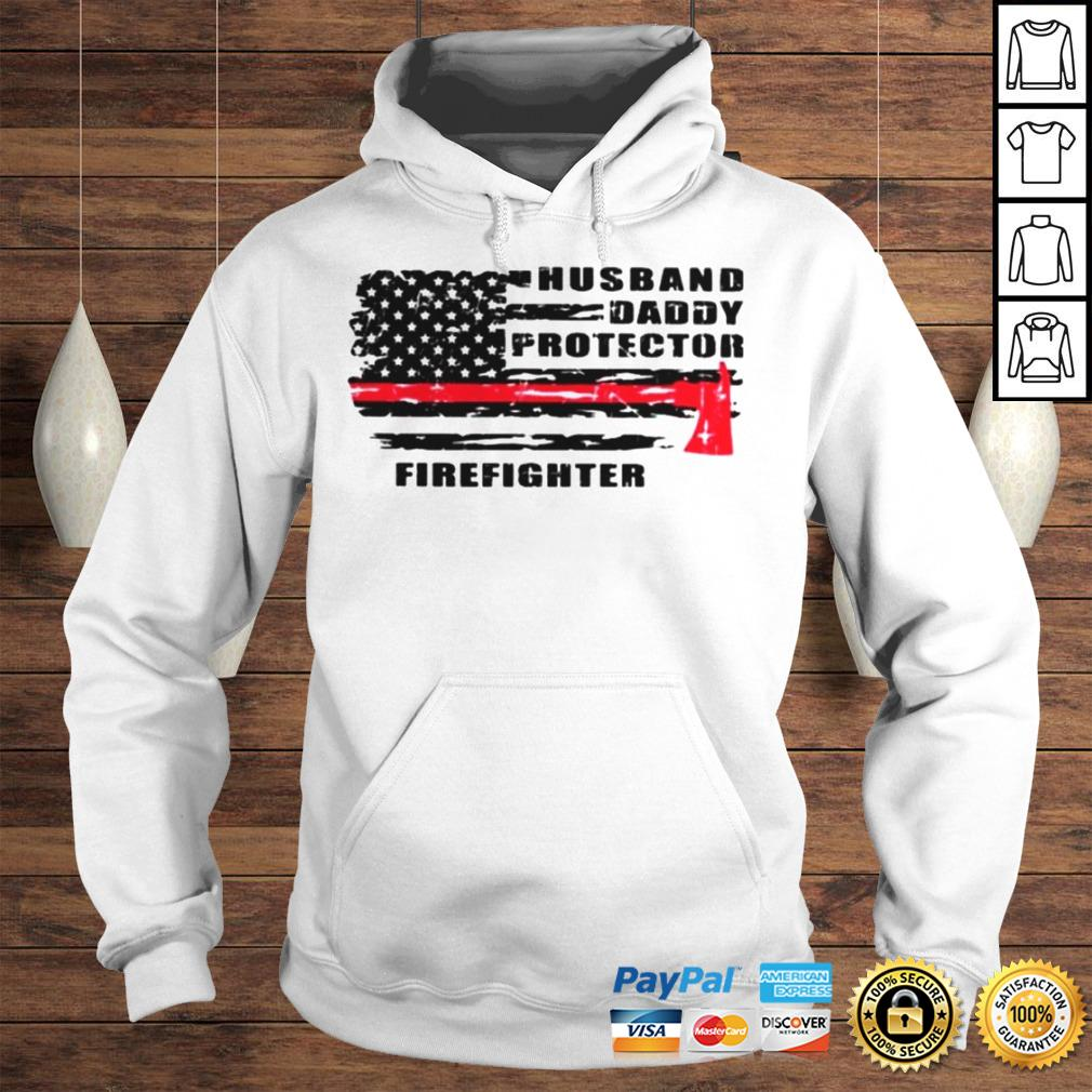 Husband daddy protector firefighter shirt Hoodie