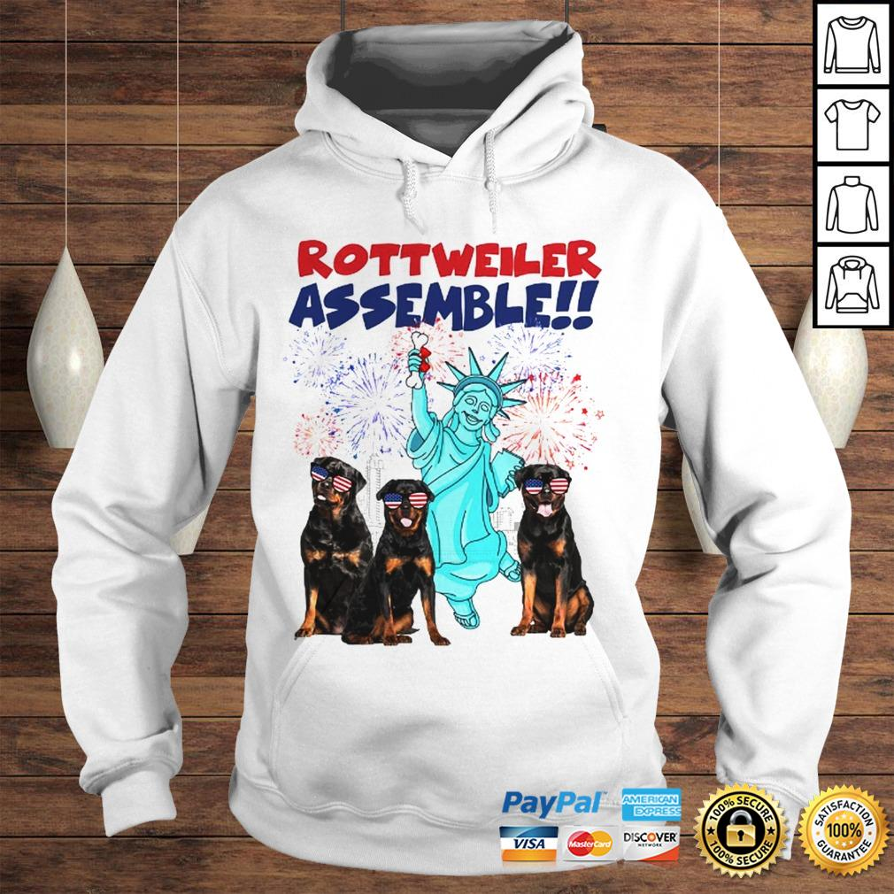 Rottweiler with the statue of liberty American flag veteran Independence Day shirt Hoodie