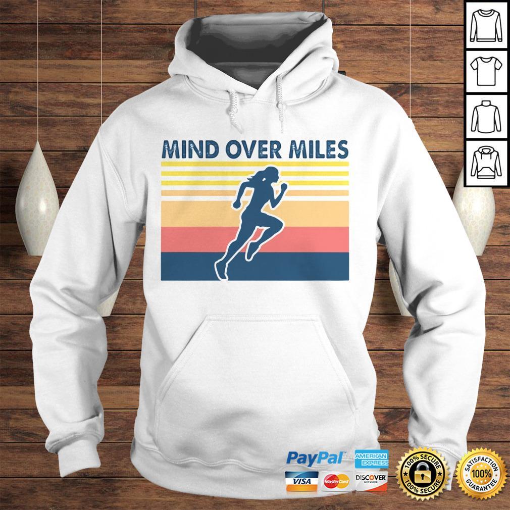 Running mind over miles vintage shirt Hoodie