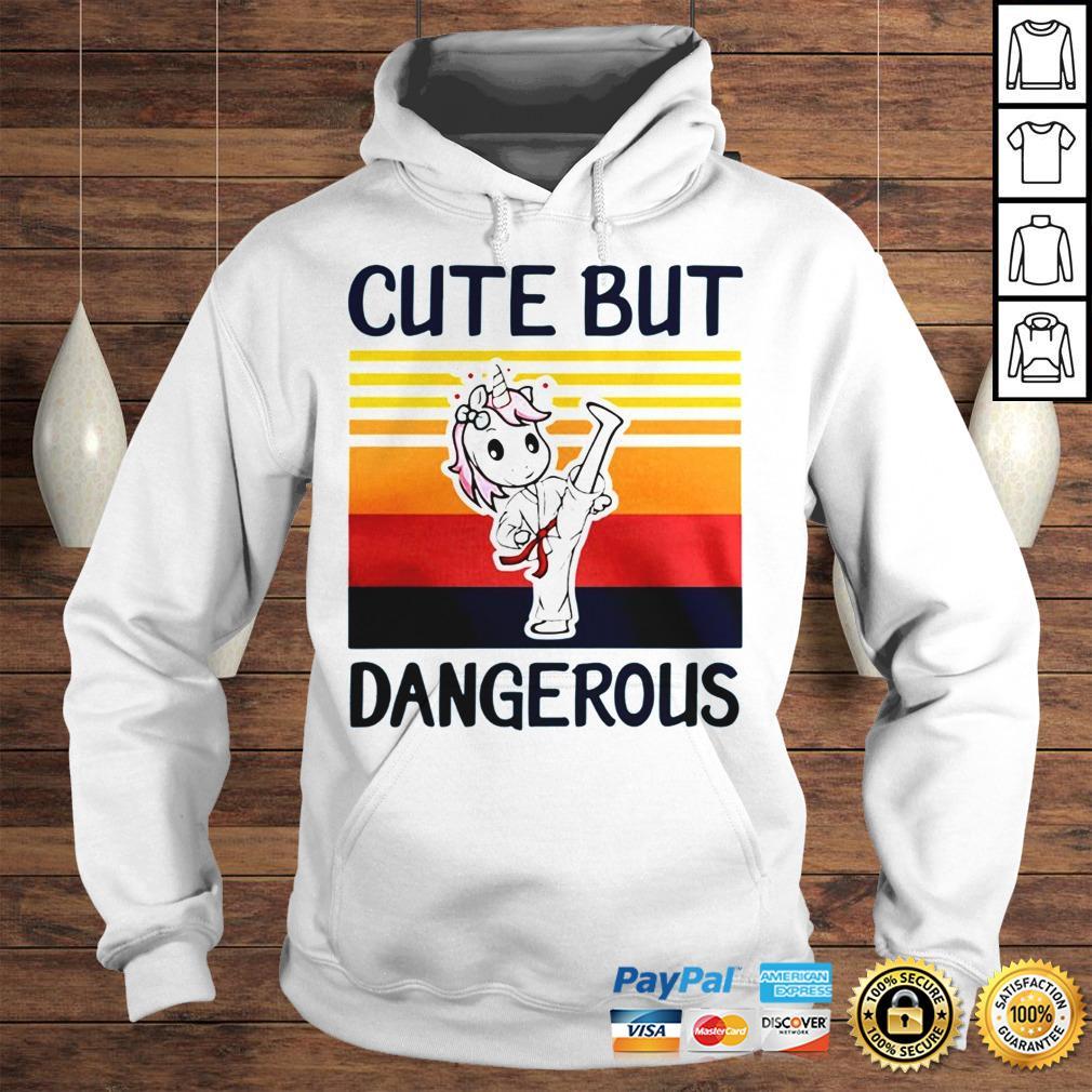 Unicorn Cute But Dangerous Vintage shirt Hoodie