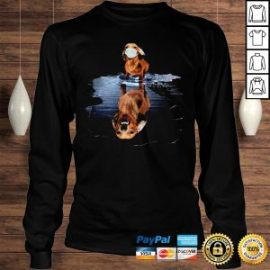 Dachshund Face Mask Water Reflection Dachshund Shirt Longsleeve Tee Unisex