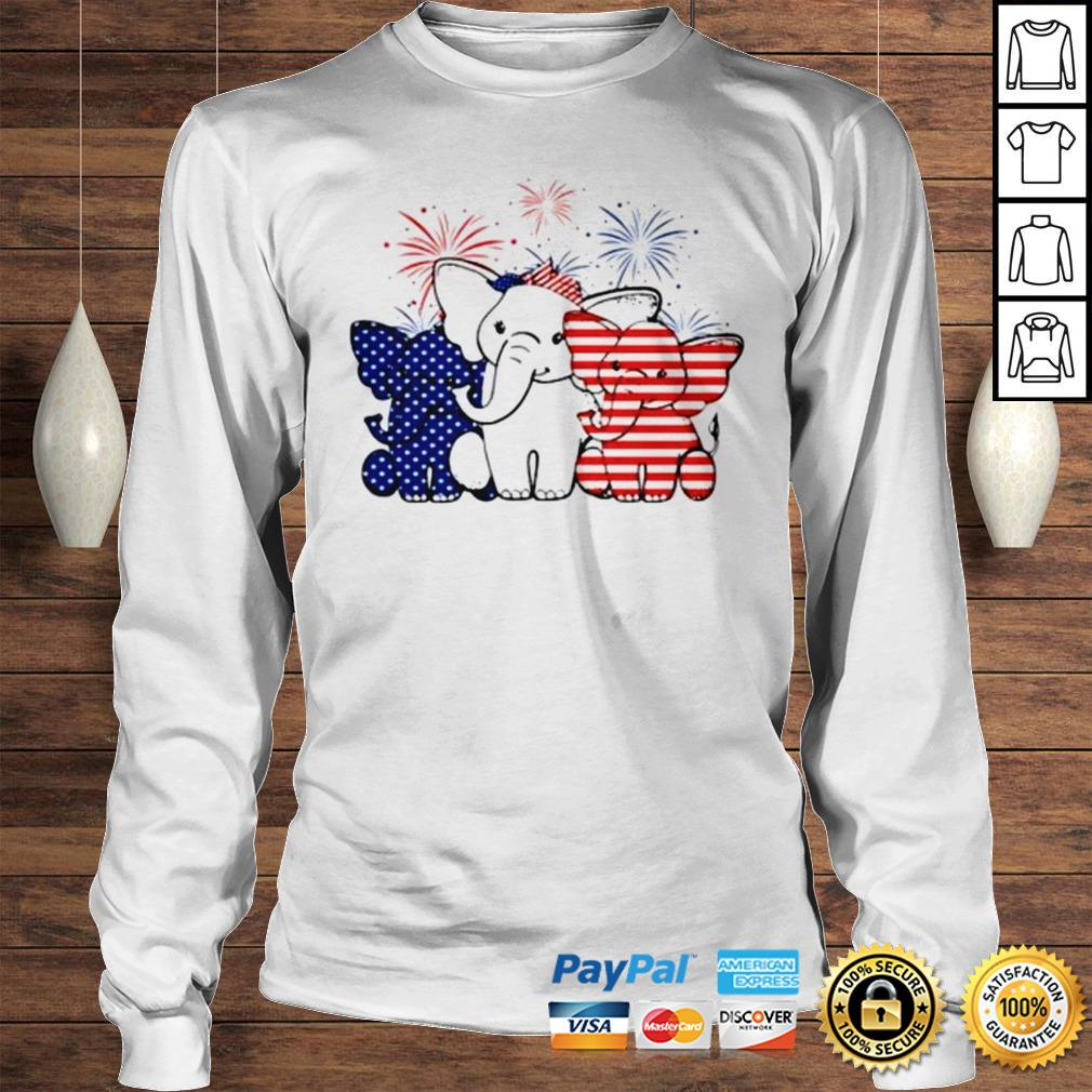 Elephant 4th of July Independence shirt Longsleeve Tee Unisex