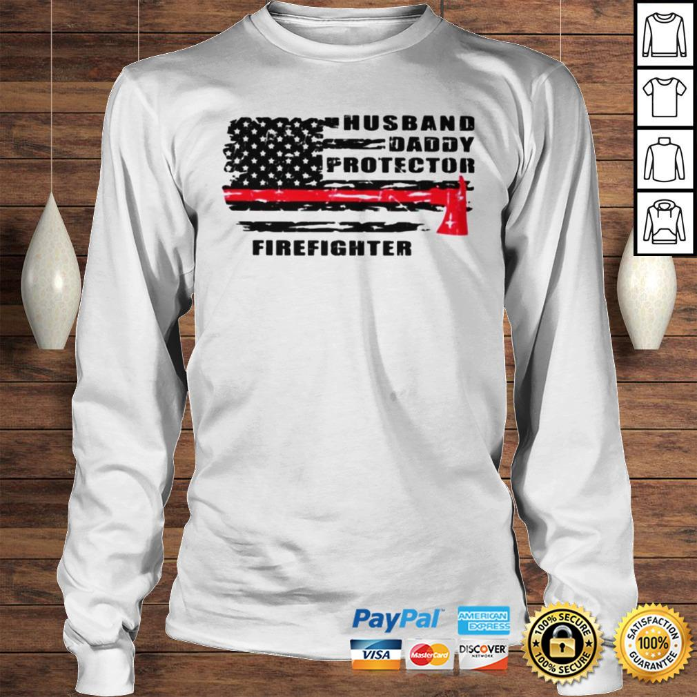 Husband daddy protector firefighter shirt Longsleeve Tee Unisex
