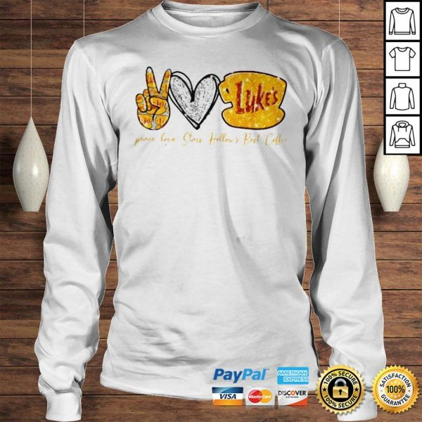 Peace Love Stars Hollows Best Coffee Lukes Shirt Longsleeve Tee Unisex