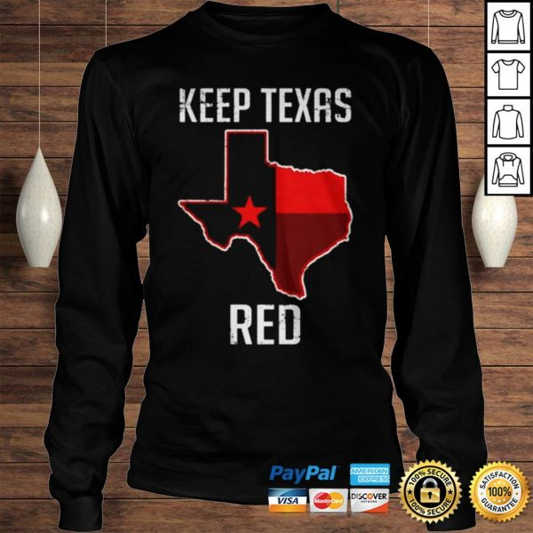 Texas Red State Flag shirt Longsleeve Tee Unisex