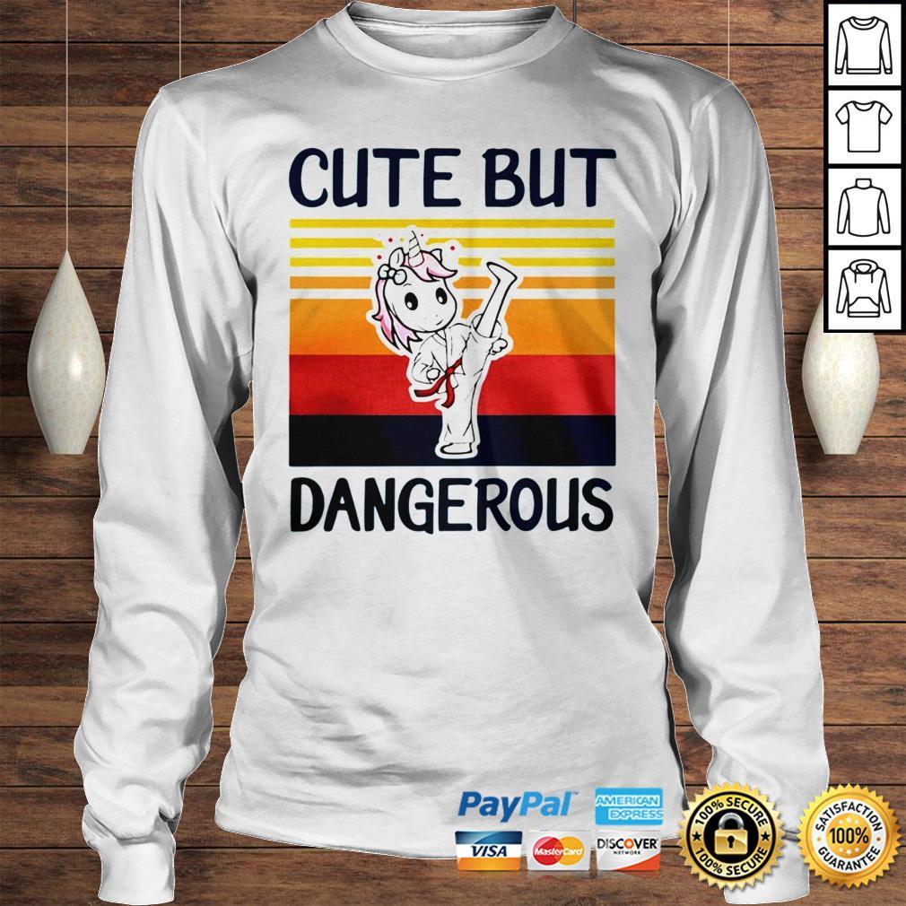 Unicorn Cute But Dangerous Vintage shirt Longsleeve Tee Unisex