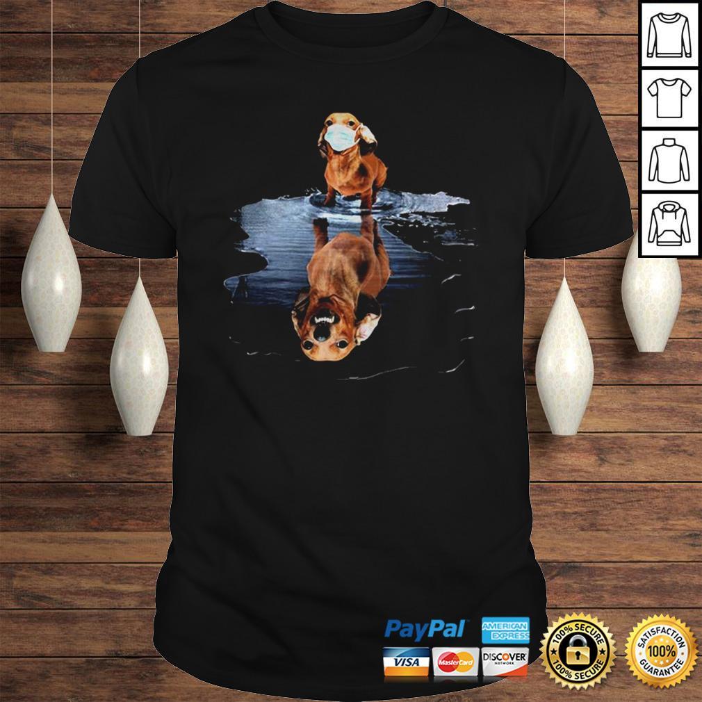 Dachshund Face Mask Water Reflection Dachshund Shirt