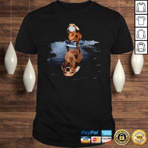 Dachshund Face Mask Water Reflection Dachshund Shirt Shirt