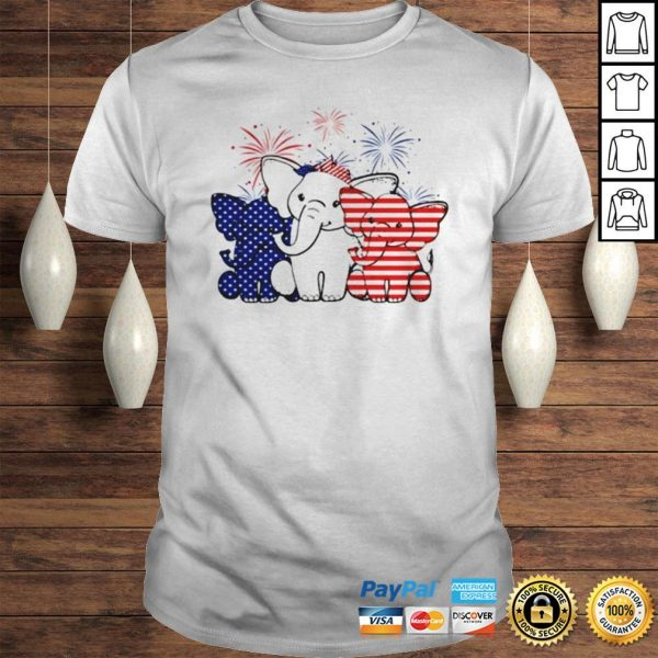 Elephant 4th of July Independence shirt Shirt