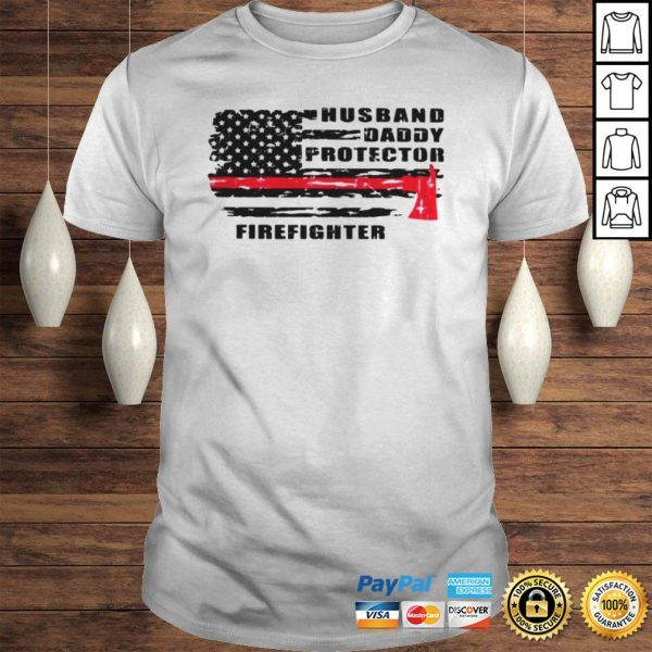 Husband daddy protector firefighter shirt Shirt