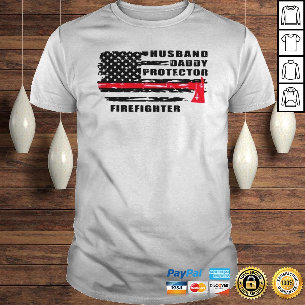 Husband daddy protector firefighter shirt