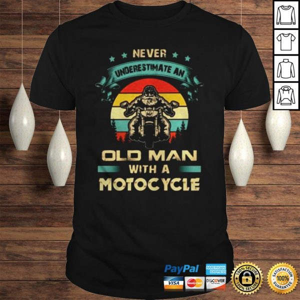 Never underestimate an old man with a Motorcycle vintage shirt Shirt
