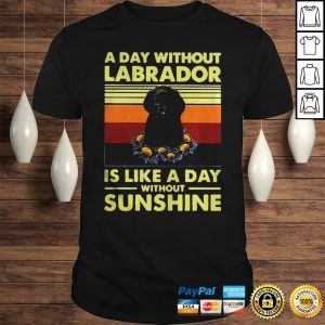 Official A day without Labrador is like a day without sunshine sunset black shirt Shirt
