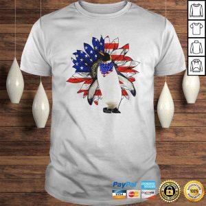 Penguin sunflower American flag veteran Independence Day shirt Shirt