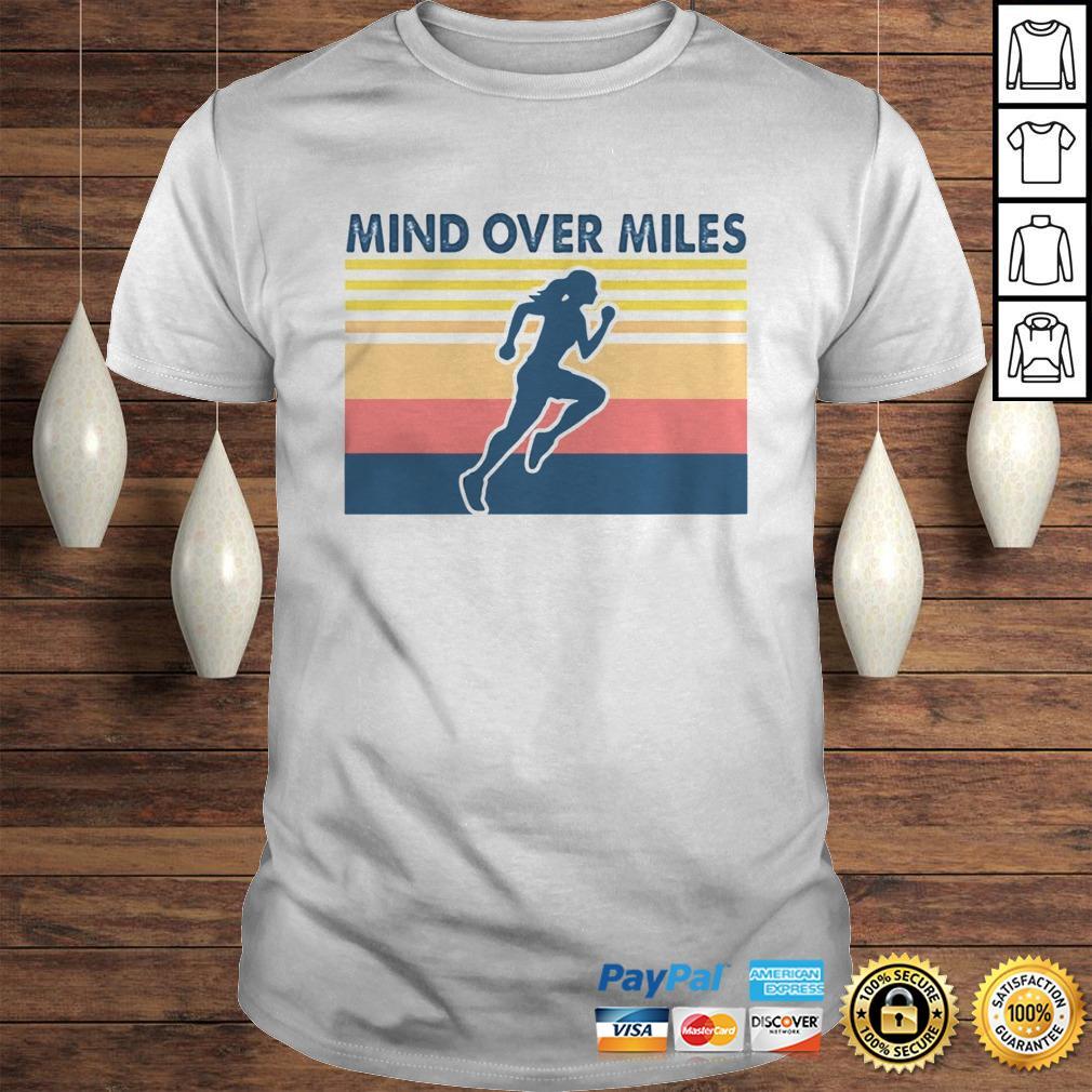 Running mind over miles vintage shirt
