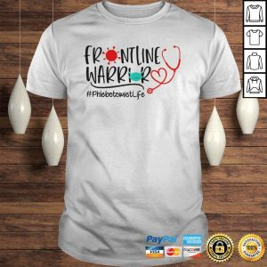 Stethoscope heart frontline warrior mask phlebotomistlife virus corona shirt Shirt