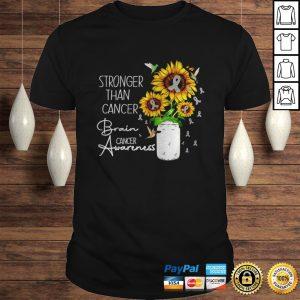 Sunflower stronger than cancer brain cancer awareness shirt Shirt