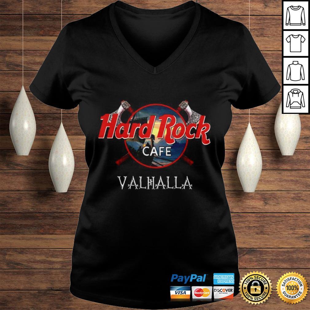 Official Hard Rock cafe Valhalla shirt Ladies V-Neck