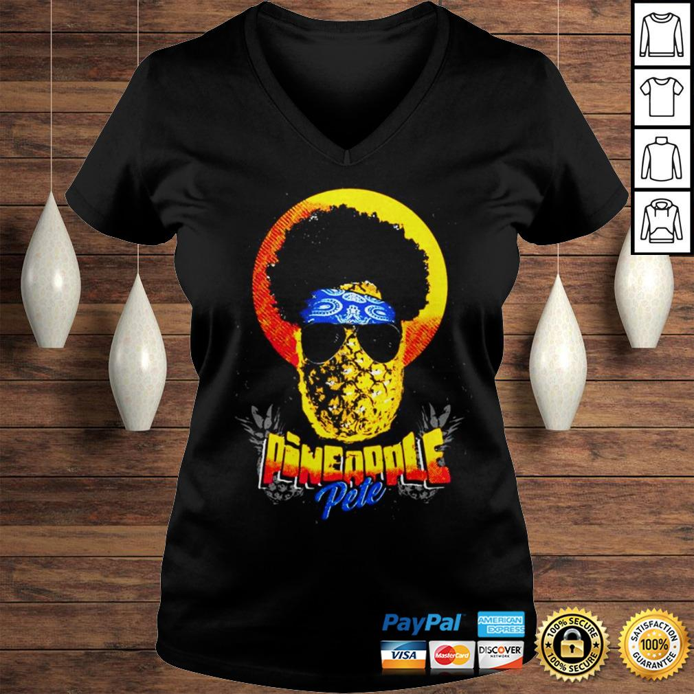 Official Pineapple Pete shirt Ladies V-Neck