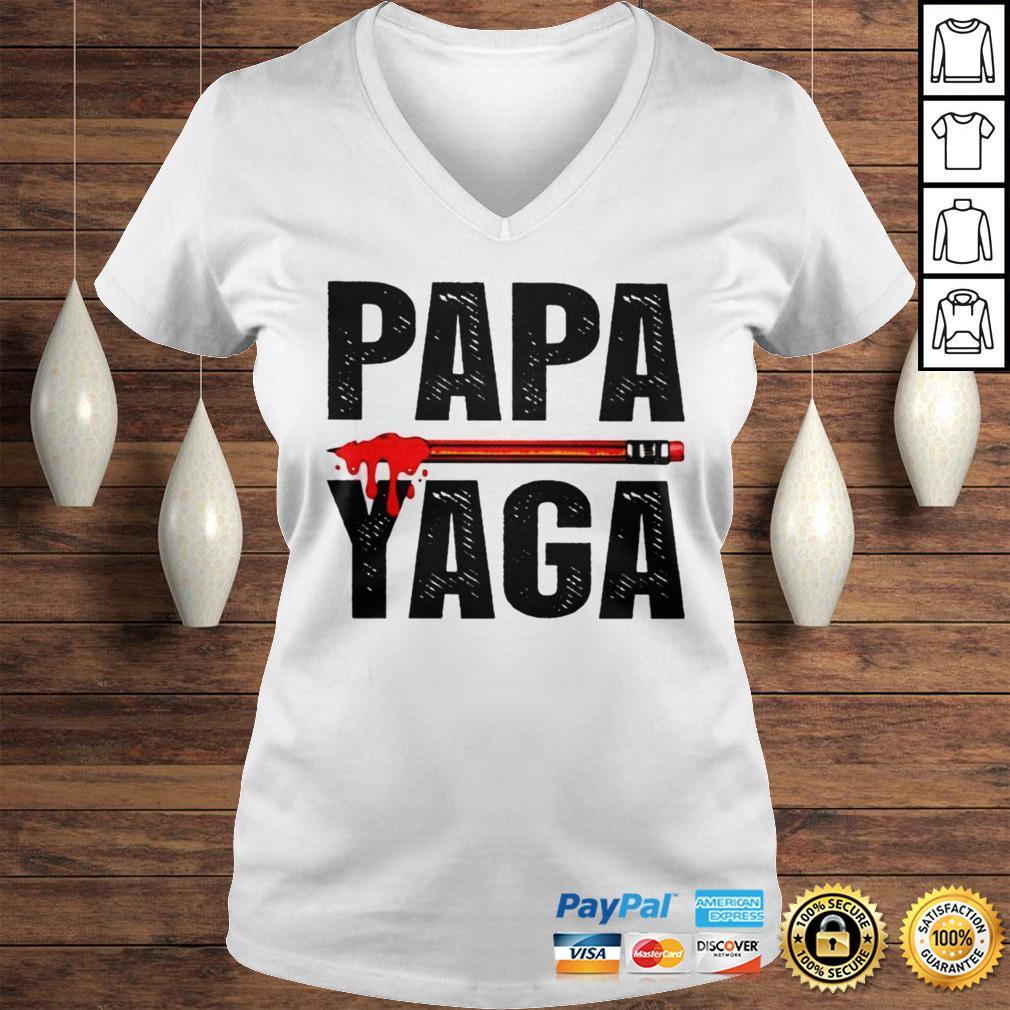 Pencil Papa yaga shirt Ladies V-Neck