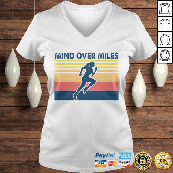 Running mind over miles vintage shirt Ladies V-Neck