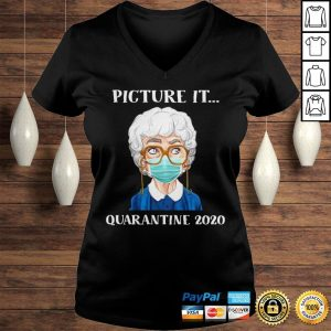 Sophia Petrillo The Golden Girls Face Mask Picture It Quarantine 2020 Shirt Ladies V-Neck