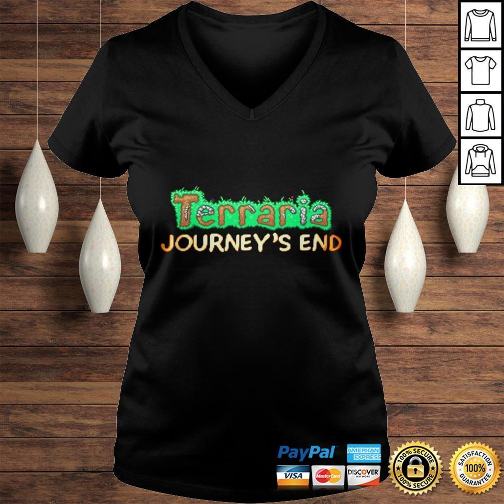 Terraria Journeys End Hoodie Ladies V-Neck
