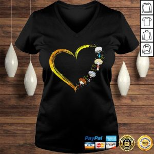 Thank you for being a friend heart The Golden Girls shirt Ladies V-Neck