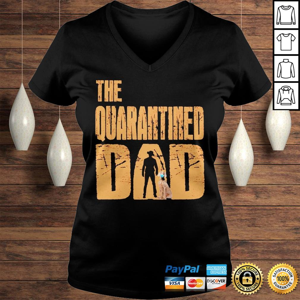 The Quarantined Dad dog mask shirt Ladies V-Neck
