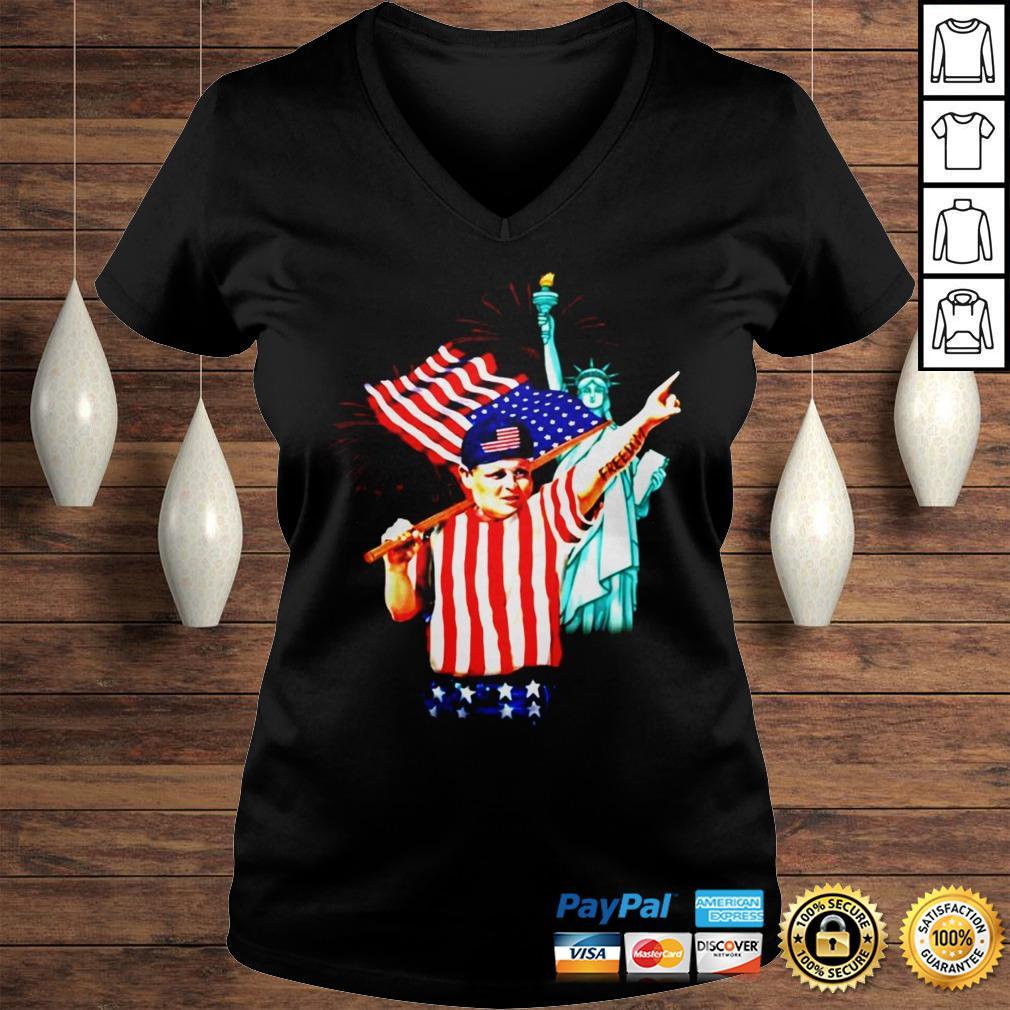 The Sandlot Freedom 4th of July Hamilton Ham Porter shirt Ladies V-Neck