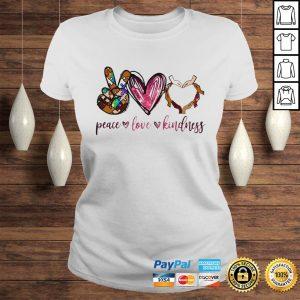 Peace love kindness shirt Classic Ladies Tee