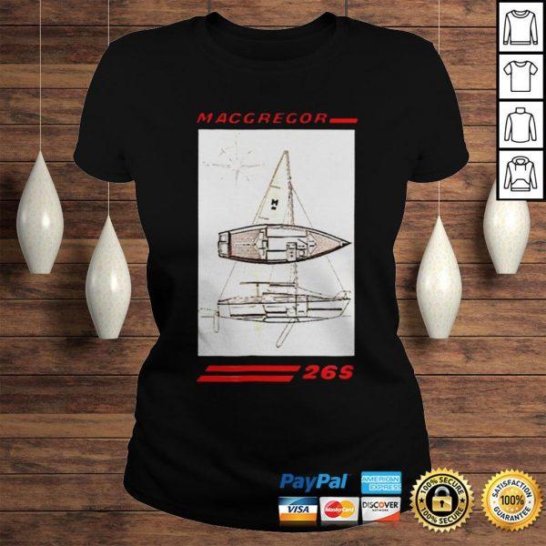 Sailboat line drawing macgregor 26s shirt Classic Ladies Tee