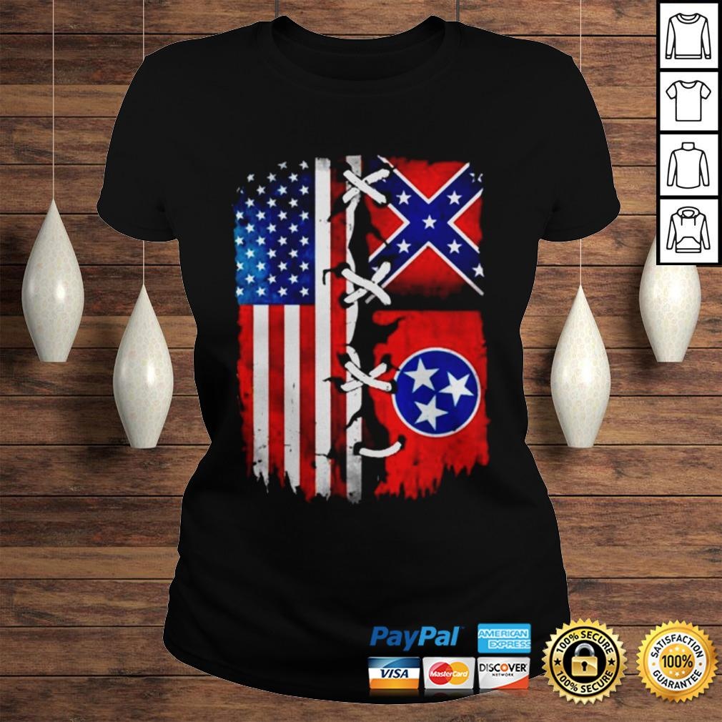 Tennessee flag American shirt Classic Ladies Tee