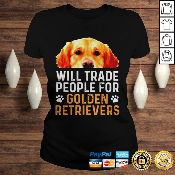 Will trade people for Golden Retrievers shirt Classic Ladies Tee