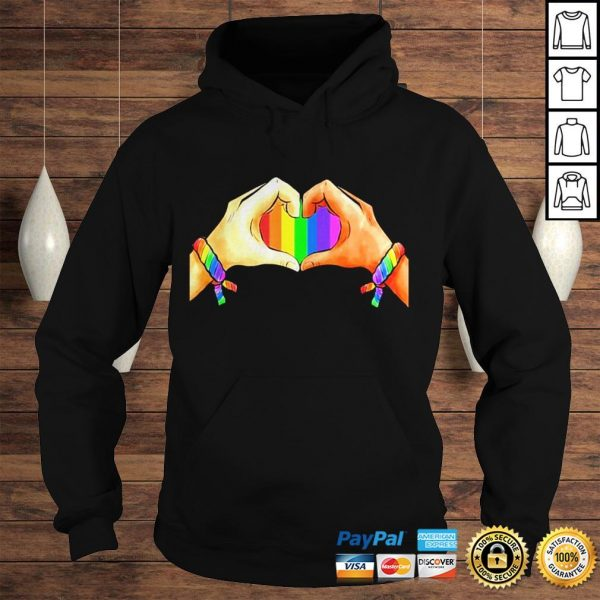 Hand language heart Rainbow shirt Hoodie