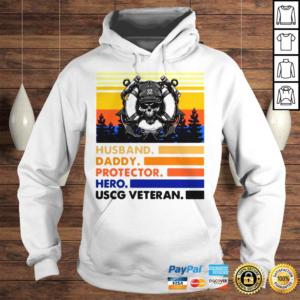 Husband Daddy Protector Hero USCG Veteran Vintage TShirt Hoodie