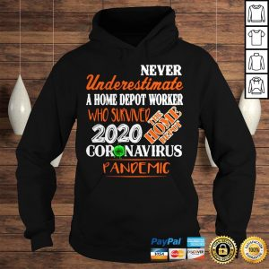 Never Underestimate A Home Depot Worker Who Survived 2020 Coronavirus Pandemic Shirt